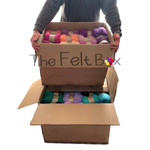 carded wool workshop pack 111 colours x 100 g each
