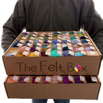 Colour Palette for Needle Felting. Carded Wool in 111 Shades