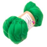 Wool Top, Merino Roving Top 21 mic, Felting and Spinning Fibre, Green