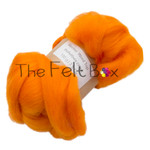 Wool Top, Merino Roving Top 21 mic, Felting and Spinning Fibre, Orange