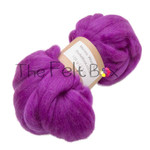 Wool Top, Merino Roving Top 21 mic, Felting and Spinning Fibre, Purple