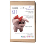 Poppy the pig needle felting kit by Sarah Brown