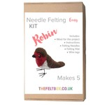 Needle Felting Kit- Robin. Makes five. Level -Easy