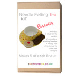 Needle Felting Kit- Biscuits. Makes ten. Level -Easy