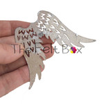 Metal Angel wings with Silver effect finish. Set of 5