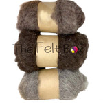 Bergschaf  ( DHG)  Carded Wool For Needle Felting Set of 3 Shades ,150 gg
