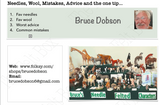 Needles, Wool, Mistakes, Advice and the One Tip - by Bruce Dobson