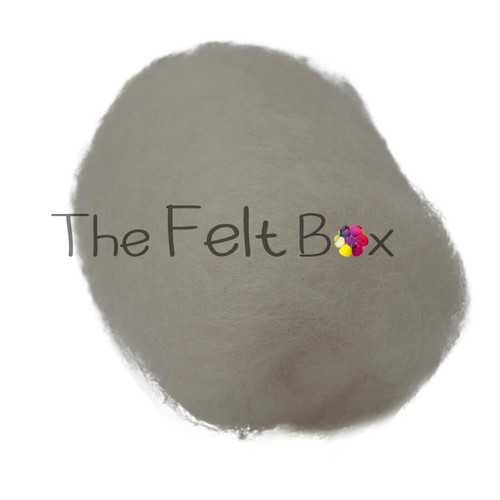needle felting wool in off white shade  by the felt box