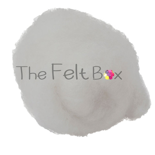 needle felting wool in snow white shade  by the felt box