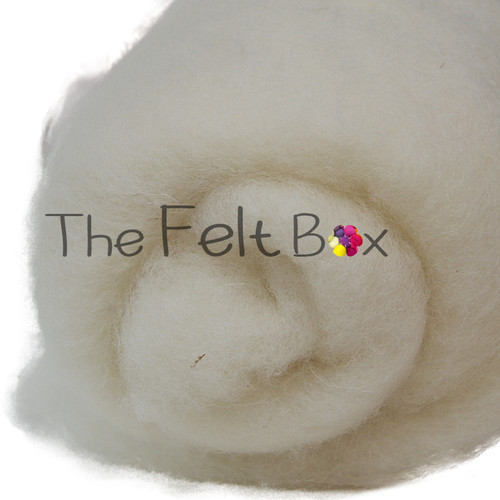 Carded Batts Cheviot natural cream