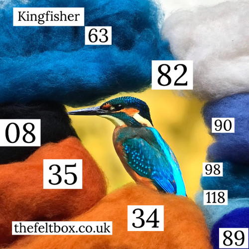 Cheat Sheet Felting Wool Set (Kingfisher) Wool Only