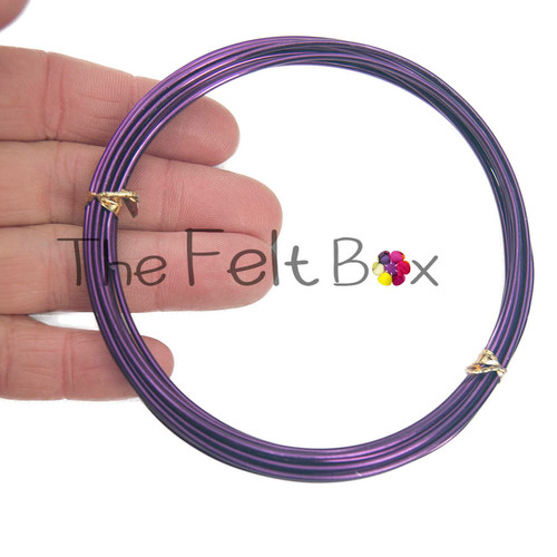 Armature Wire for Needle Felting. Strong Aluminium Craft Wire. 1.5 mm (Purple / 3m)