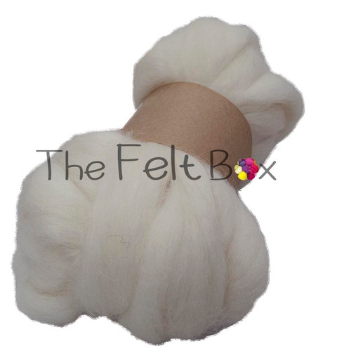 Wool Top, New Zealand Roving, Felting and Spinning Fibre, Cream