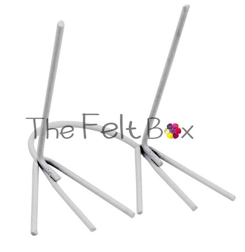 Metal Legs For Needle Felting,  Small White, H 45 mm W 20mm,  pair