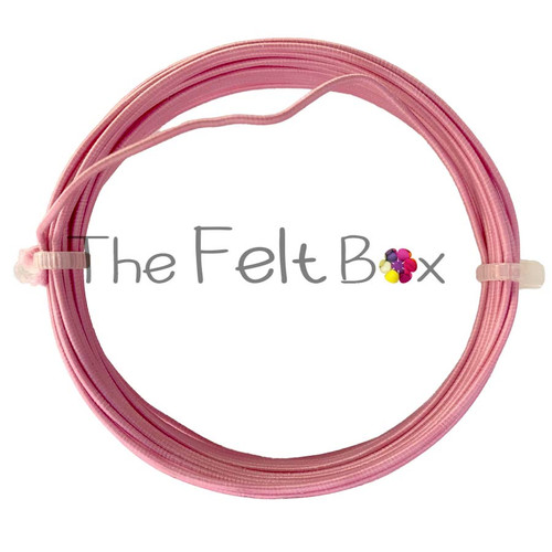 Armature Wire for Needle Felting. Textile covered Craft Wire. 0.9 mm (Pink/ 4m)