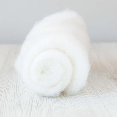 Carded wool in snow dhg