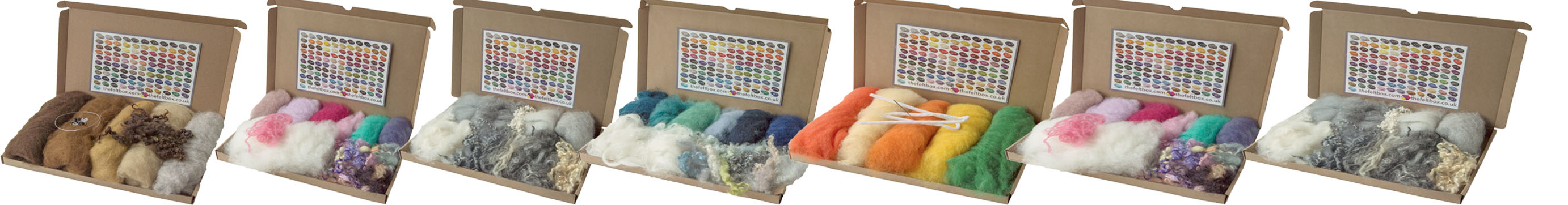 Inspirational Fibre packs designed for needle felters.