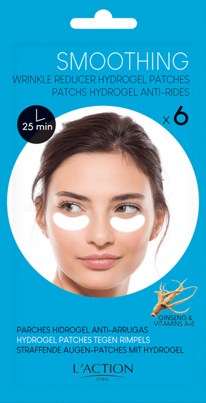 L'ACTION SMOOTHING WRINKLE REDUCER HYDROGEL EYE PATCHES x3 pairs