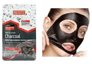 CHARCOAL DUAL STEP FACIAL MASK