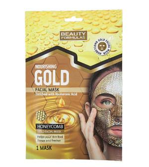 BEAUTY FORMULAS HONEYCOMB NOURISHING GOLD FACIAL MASK
