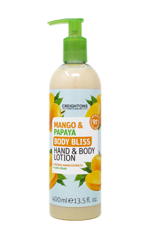 MANGO & PAPAYA BODY BLISS HAND & BODY LOTION 400ML