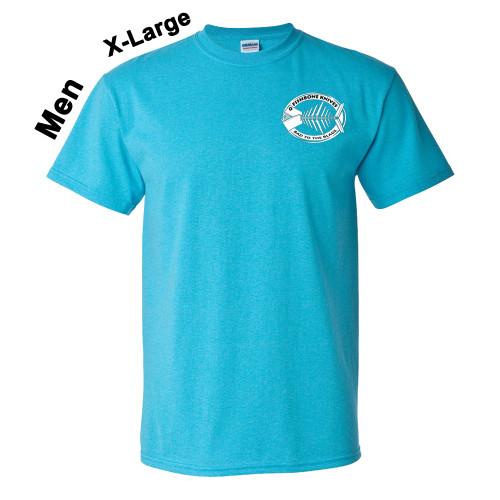 Charity Fishbone Knives Mens 100% Cotton Heather Sapphire X-Large T-Shirt