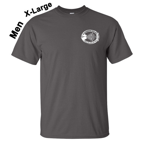 Fishbone Knives Mens 100% Charcoal X-Large T-Shirt
