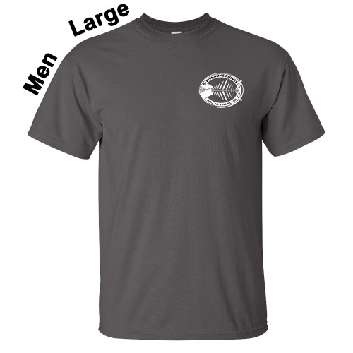 Fishbone Knives Mens 100% Charcoal X-Large T-Shirt