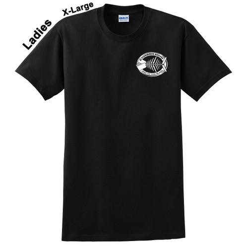 Fishbone Knives Ladies Blue Short Sleeve Extra Large XL Cotton Ultra Shirt VB3911