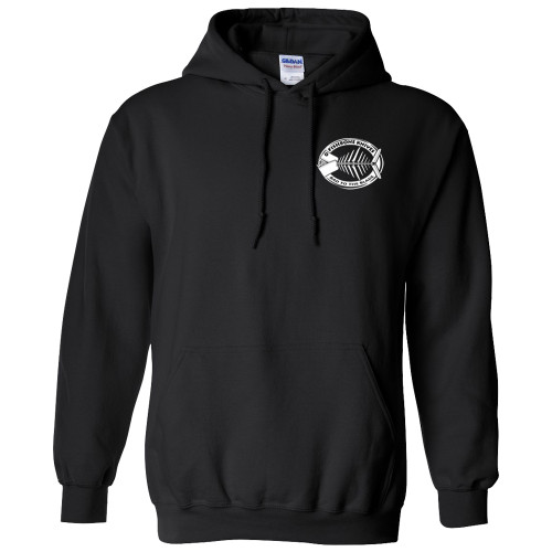 Charity Fishbone Knives Unisex 100% Cotton Black X-Large Hoodie Hooded Sweatshirt