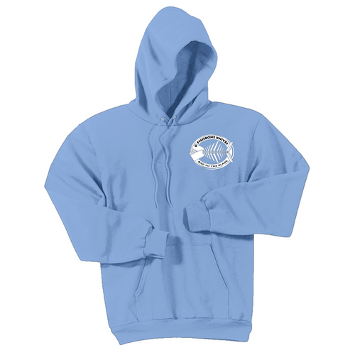 Fishbone Knives Cotton Sweatshirt - Light Blue - XXL