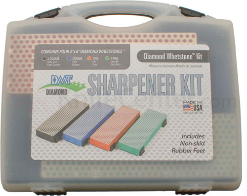 "DMT Knife Sharpener Kit W6EFCXKIT Contains four 2"" x 6"" diamond whetstones"