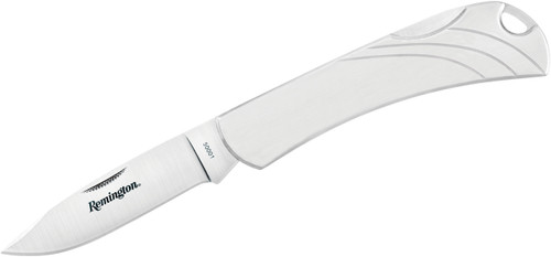 """Remington 3.1"""" Everyday Series Drop Point Plain Blade Folding Knife Stainless Steel Handle R50001 100056"""