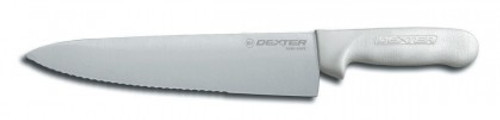 S145-10SC Dexter Russell 10 inch Scalloped Edge Cooks knife