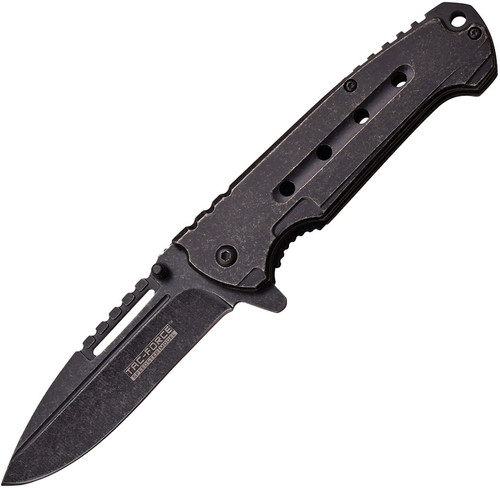 "Tac Force 3.75"" Linerlock Assisted Opening Black Folding Pocket Knife 921CSW"