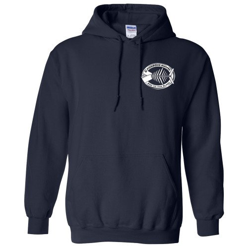 Charity Fishbone Knives Unisex 100% Cotton Navy Blue Large Hoodie Hooded Sweatshirt