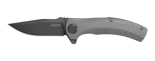 "Kershaw 3490 Les George Seguin 3.1"" Gray PVD Blade Stainless Steel Handle Flipper Knife"