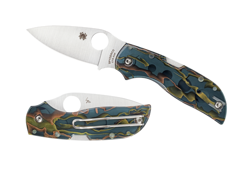 "Spyderco Chaparral 2.8"" CTS-XHP Satin Plain Blade Raffir Noble Handle Folding Knife C152RN"