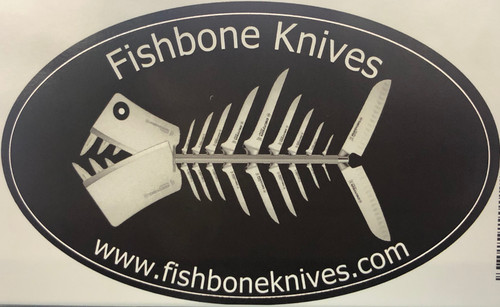 "Fishbone Knives Logo Decal 5"" x 3"""