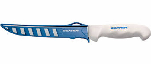 "Dexter Russell SG138EG 8"" SOFGRIP® Wide fillet knife with Edge Guard 24904"