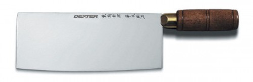 "Dexter Traditional 8"" x 3 1/4"" Chinese Chef's Knife Walnut Handle 08051 8915 (08051)"