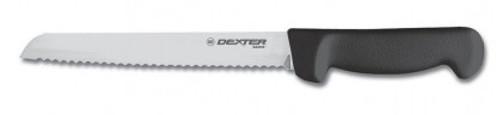 "Dexter Russell Basics 8"" Scalloped Bread Knife Black Handle 31603B P94803B (31603B)"