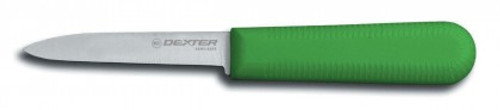 "Dexter Russell Sani-Safe 3 1/4"" Cooks Style Paring Knife Green Handle 15303G S104G-PCP (15303G)"