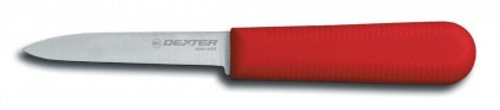 """Dexter Russell Sani-Safe 3 1/4"""" Cooks Style Paring Knife Red Handle 15303R S104R-PCP (15303R)"""