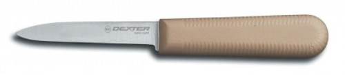 """Dexter Russell Sani-Safe 3 1/4"""" Cooks Style Paring Knife Tan Handle 15303T S104T-PCP (15303T)"""