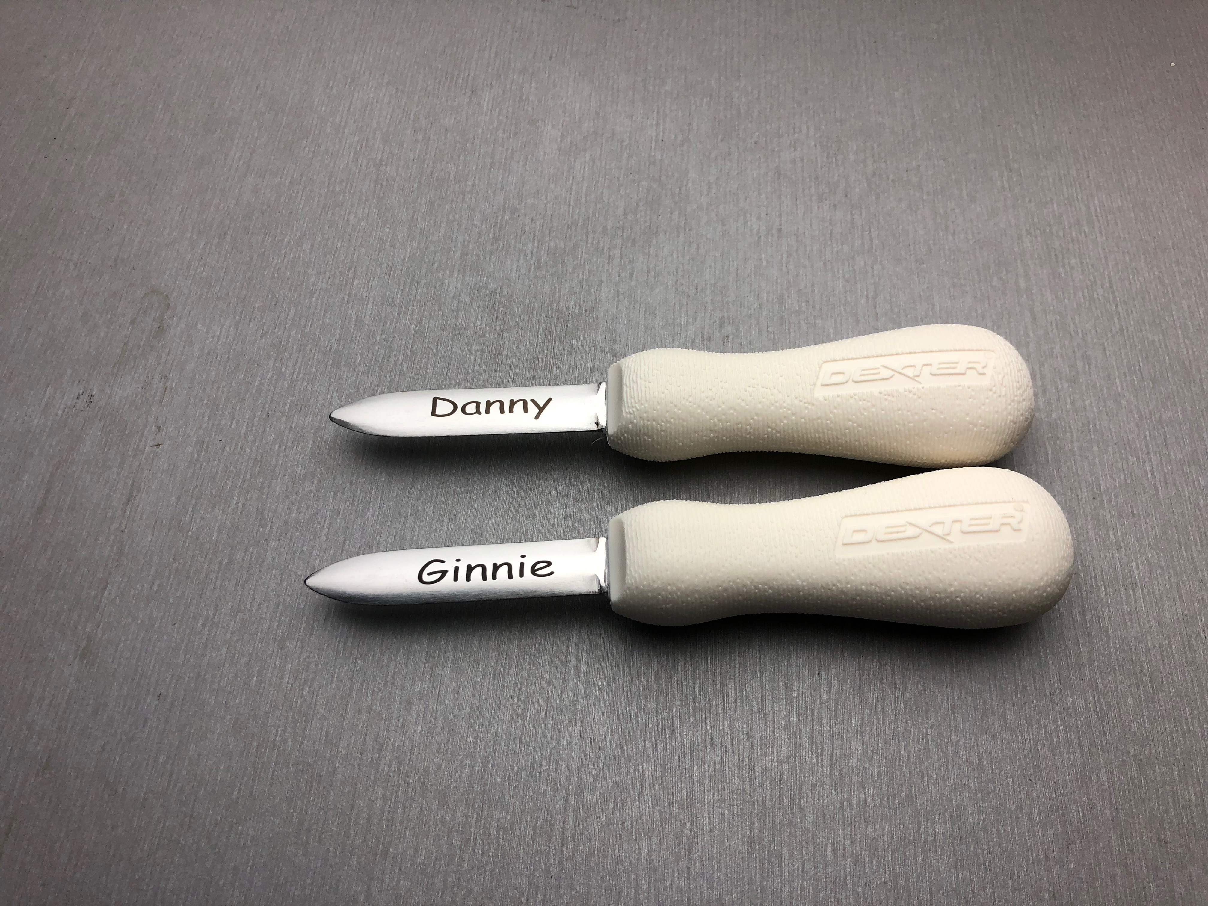 Laser Engraved Oyster Knives