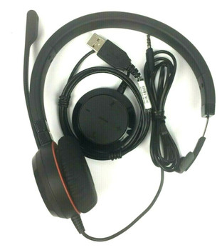 Jabra Evolve 20 Microsoft Lync USB Corded Professional Headset