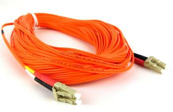 30m LC-LC 62.5/125 OM1 Duplex Multimode PVC Fiber Orange Optic Cable - 10 Pack