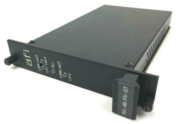 American Fibertek RX-46-FX-ST Ethernet Rack Card 1300nm 2 Fiber MM