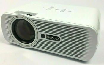 Crenova XPE460 LED 1200 Lm 800x480 Resolution 55W Home Cinema Video Projector